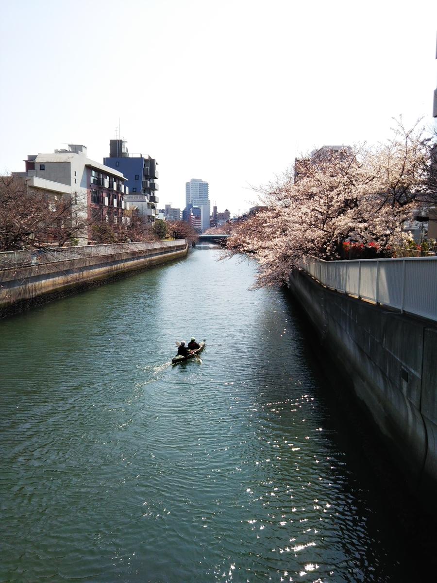 3月26日撮影 海辺橋より仙台堀川をのぞむ