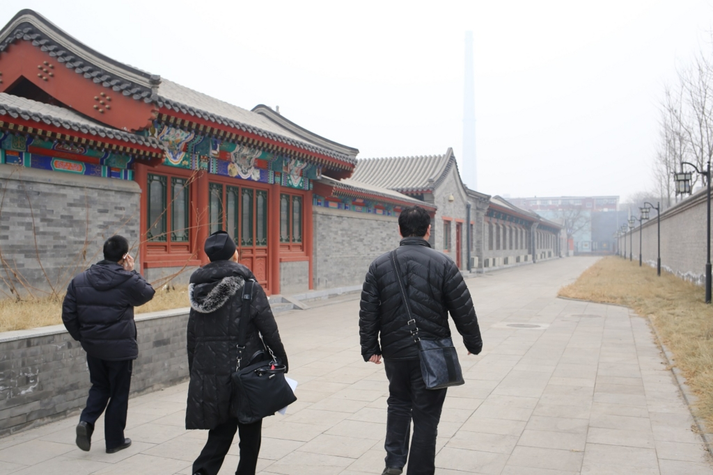 完成した中国道教協会の建物を見学/日本道観の道教交流