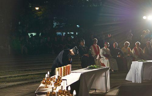 長崎原爆殉難者慰霊祭3/日本道観の道教交流