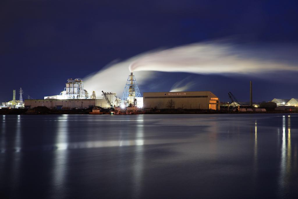 新潟東港 工場夜景