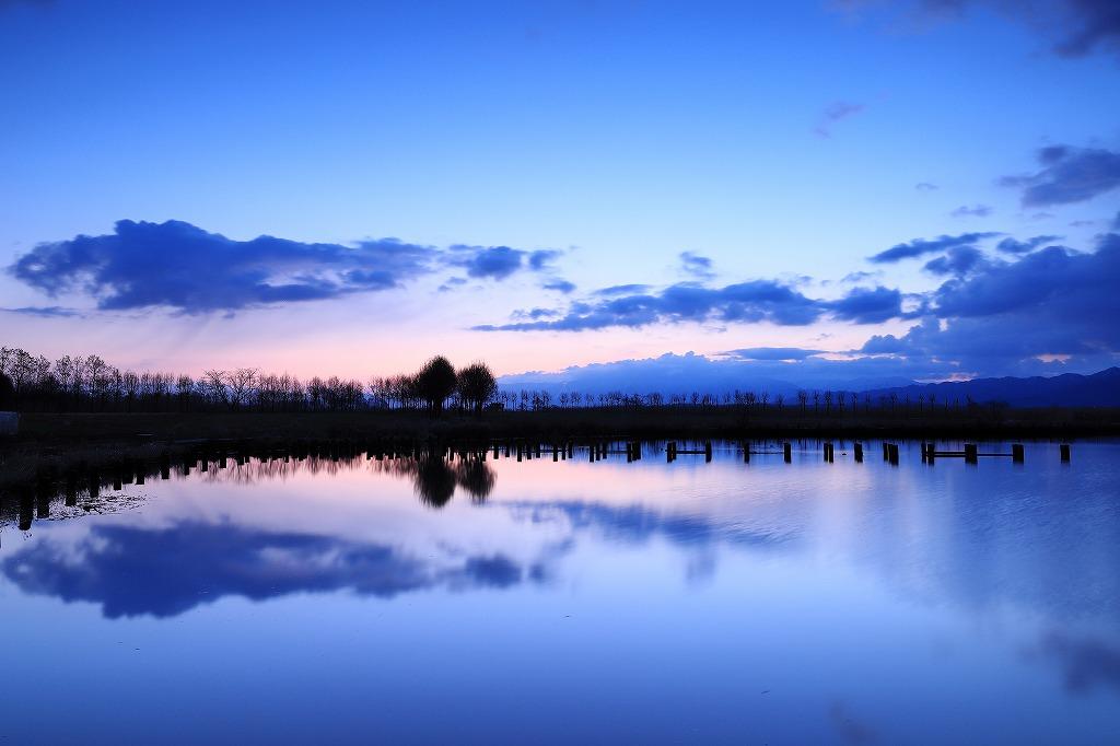 福島潟 夜明け前