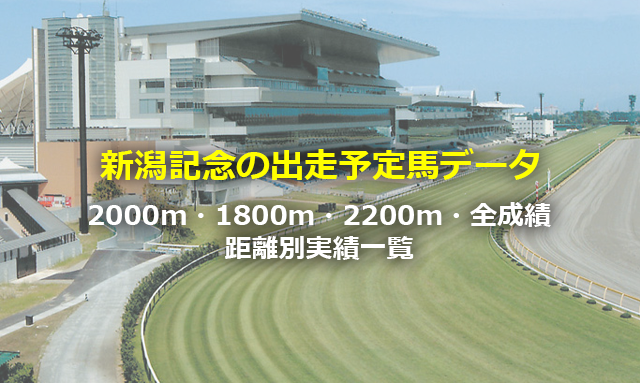 新潟記念の出走予定馬データ,2000m・1800m・2000m・全成績距離別実績一覧