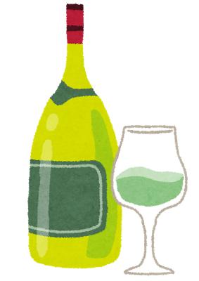 白ワインの絵