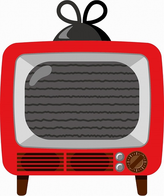 アナログテレビのイラスト