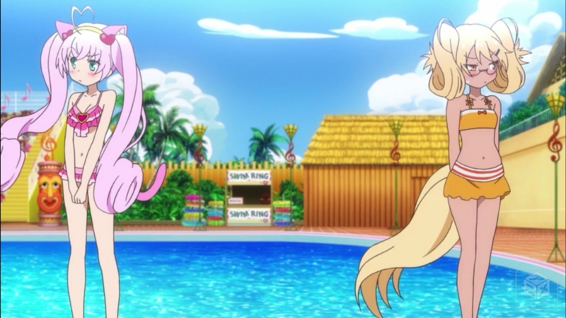 『SHOW BY ROCK!!#』4話「ドキィッ!?が~るずだらけのふわっふわ水泳大会!ですぞ ポ(以下略」キャプチャ