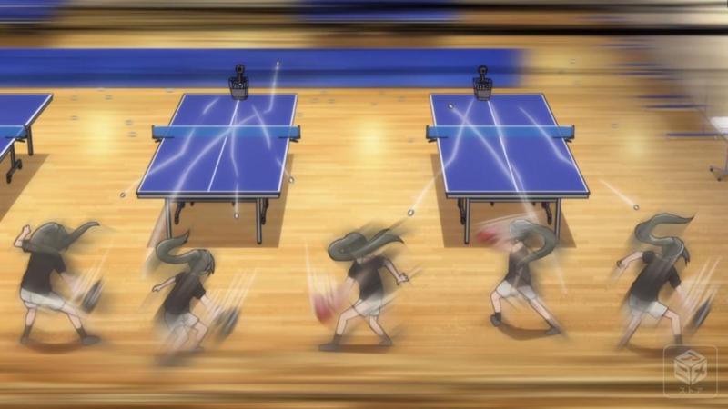 『灼熱の卓球娘』4話「タイクツな卓球」キャプチャ