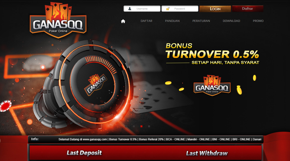 GanasQQ Situs Poker Online DominoQQ BandarQ Terpercaya