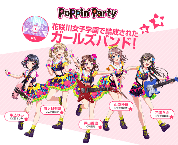 Poppin'Party(ポッピンパーティー)