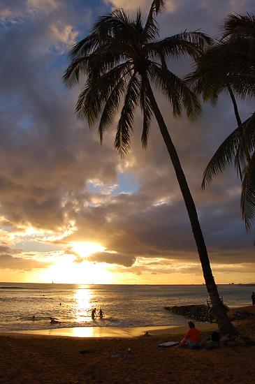 [ハワイ][夕焼け][夕陽][夕日]