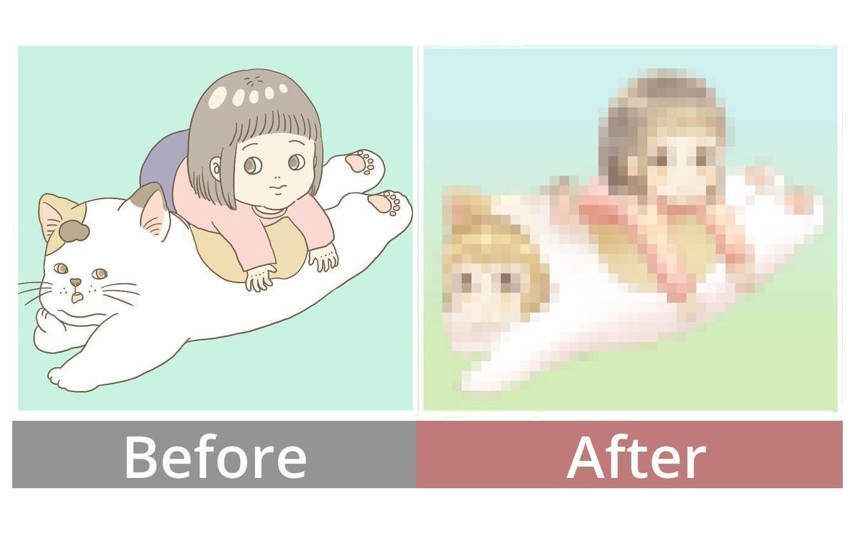 萌絵イラストビフォーアフター
