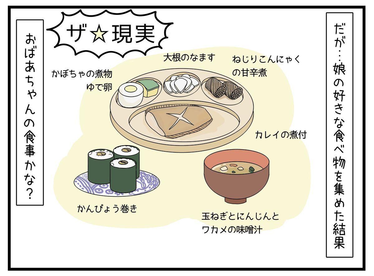 3歳の娘が好きな食べ物が和食のイラスト