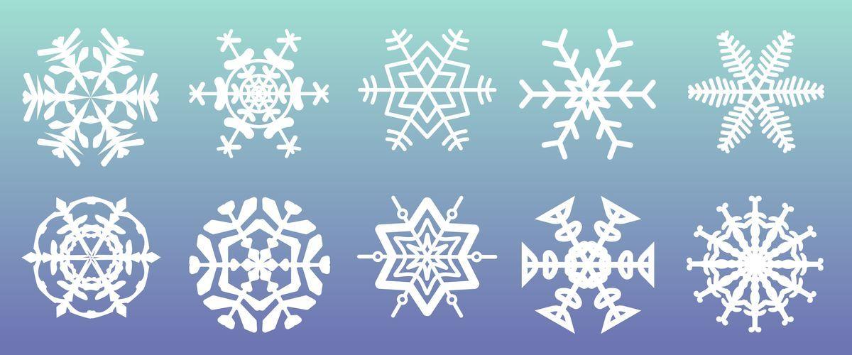 雪の結晶の無料イラスト、フリー素材