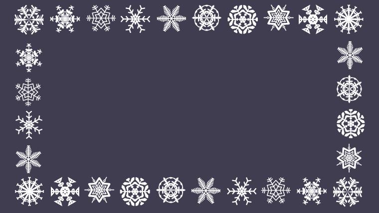 雪の結晶のフリーアイキャッチイラスト、無料イラスト