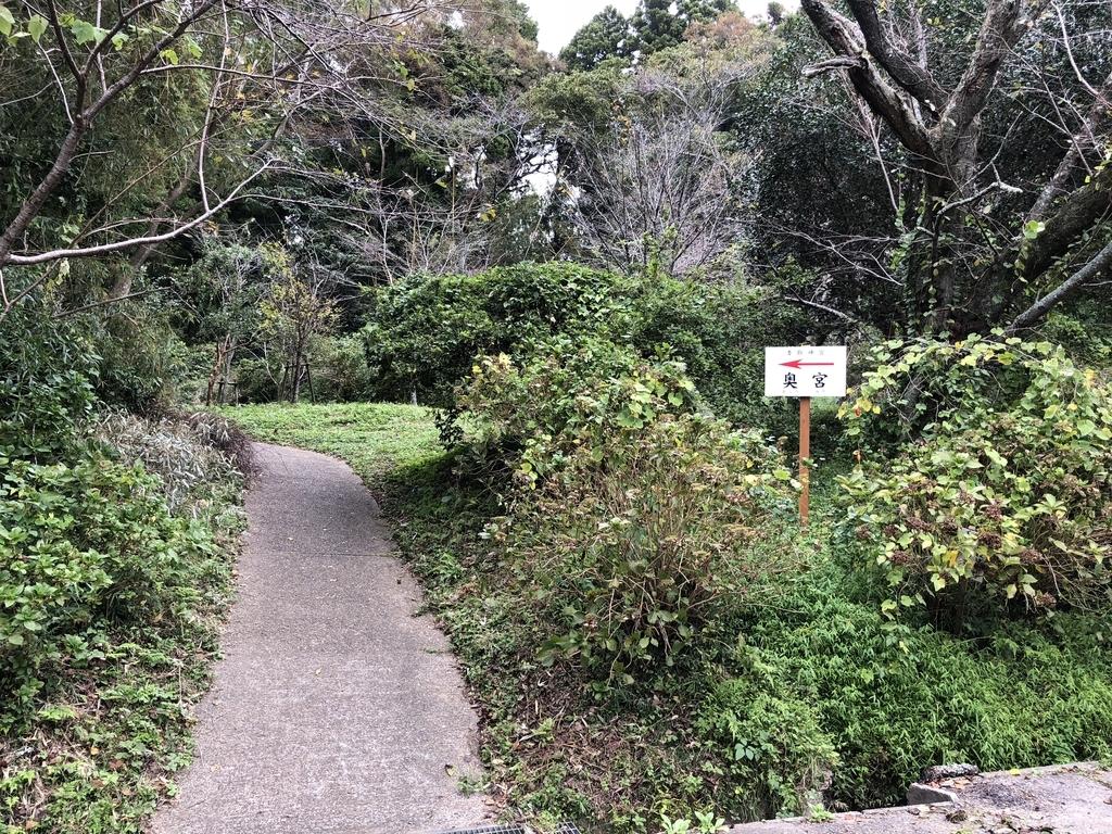 奥宮への近道キャプション