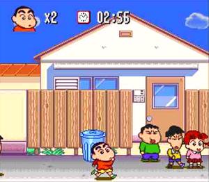 クレヨンしんちゃん嵐を呼ぶ園児_ゲーム画面1