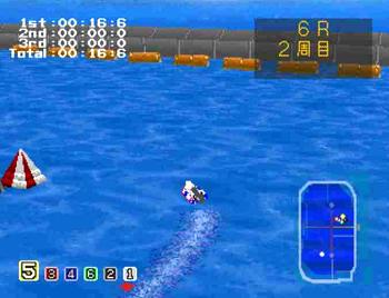 蛭子能収の大穴競艇 レース画面