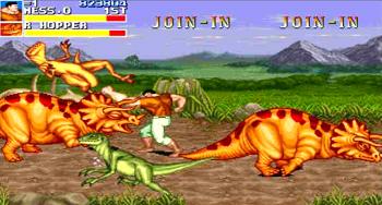 キャディラックス 恐竜と対戦