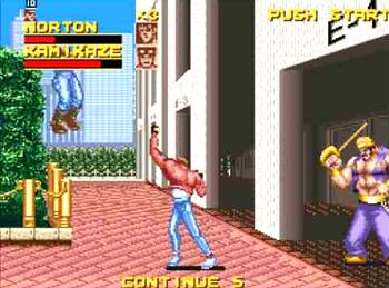 ラッシングビート ゲーム画面