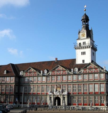 ドイツの町wolfenbüttelのお城入り口