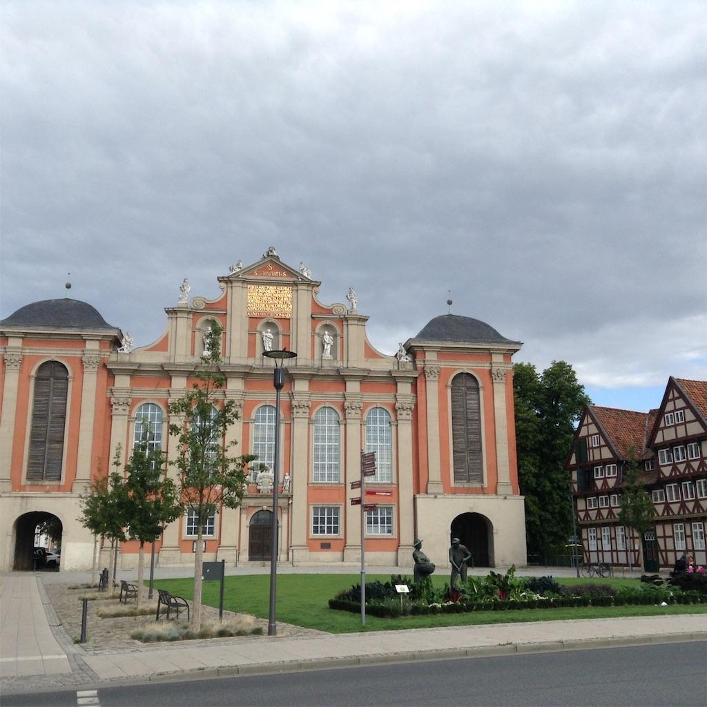 ドイツの町wolfenbüttelのトリニティー教会(三位一体教会)