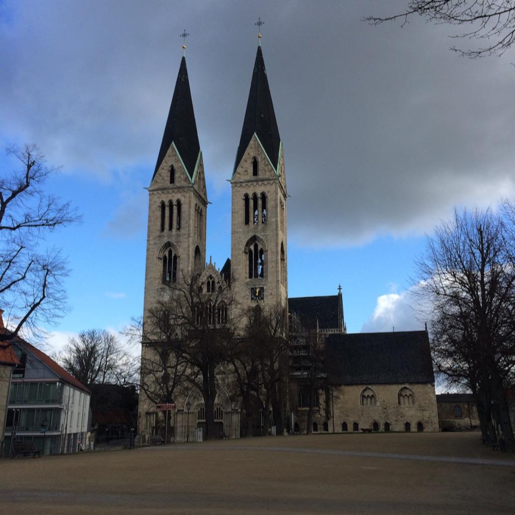 ドイツの町Halberstadt ハルバーシュタッドの大聖堂 Dom