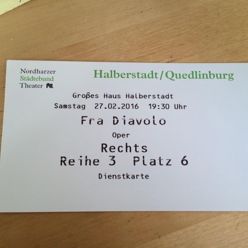 ハルバーシュタッド劇場オペラのチケット