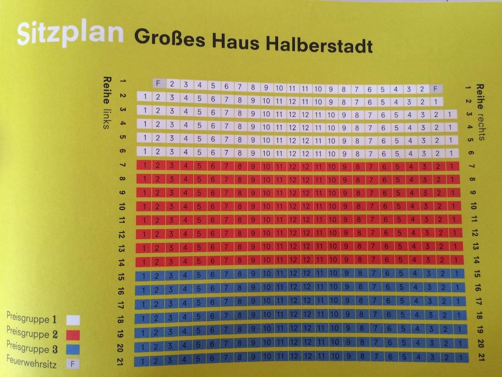 ドイツのハルバーシュタッド劇場の座席表