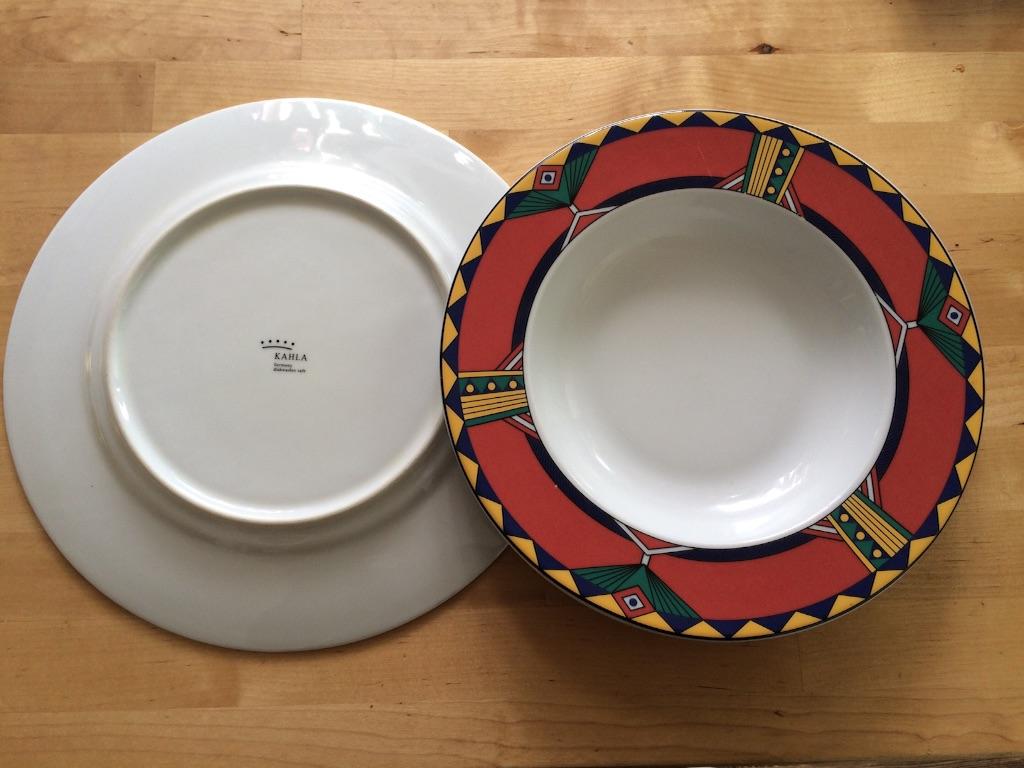 ドイツカーラ社Kahlaのお皿とスープ皿、模様が可愛い