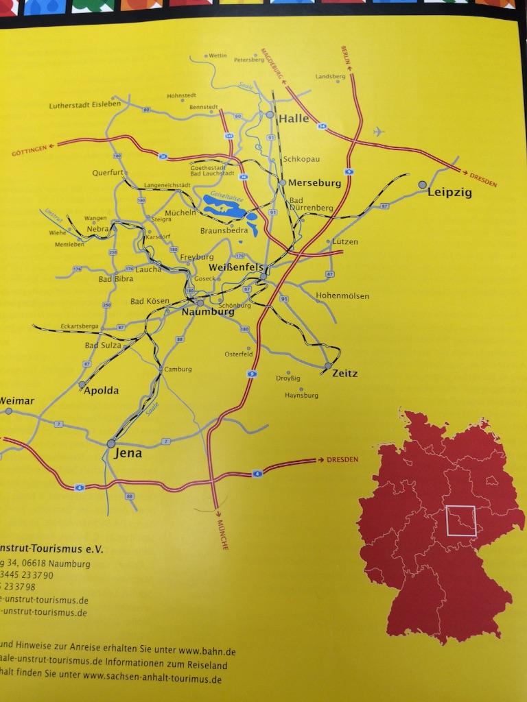 ドイツZeitsの位置を表す地図