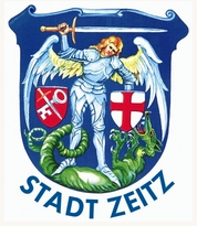 ドイツZeits街の紋章Wappen、天使が龍を剣で倒している