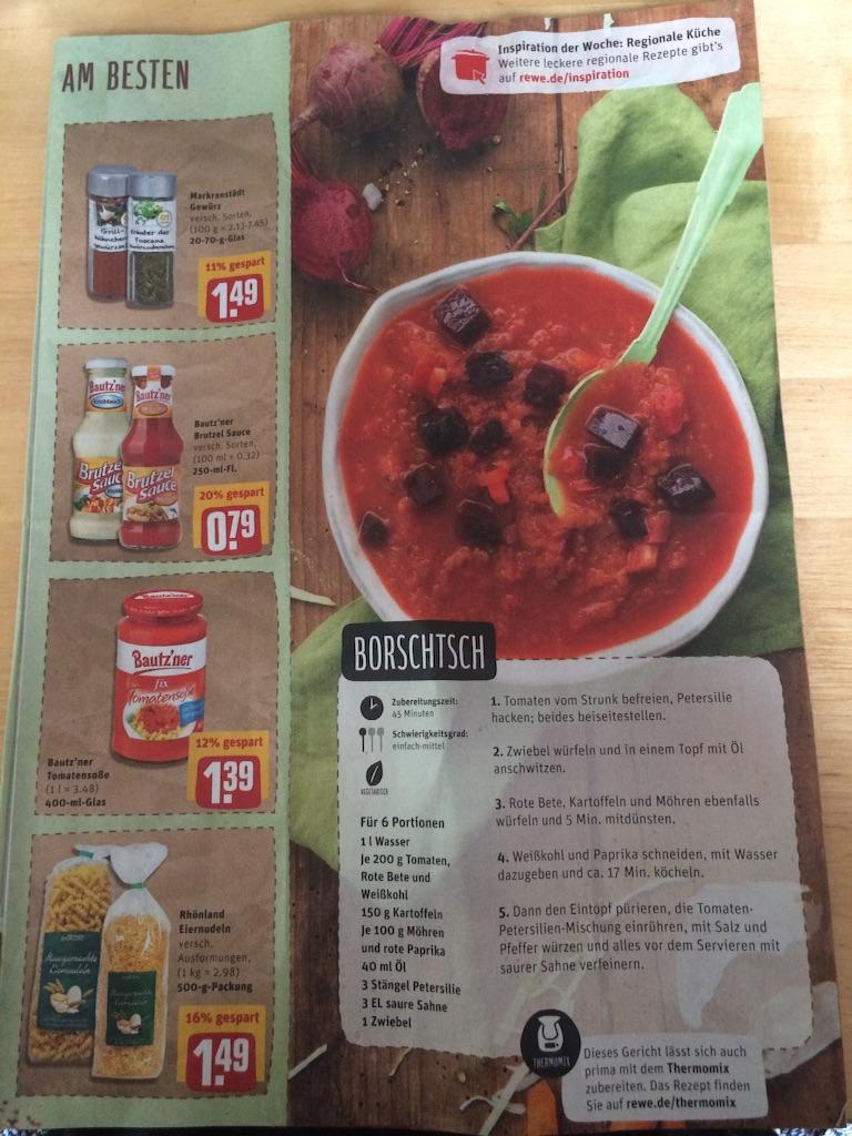 ドイツのスーパーに載っているビーツを使ったバル7のレシピ