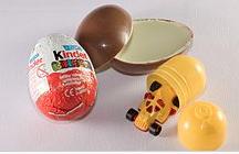 ドイツのキンダーサプライズチョコレート