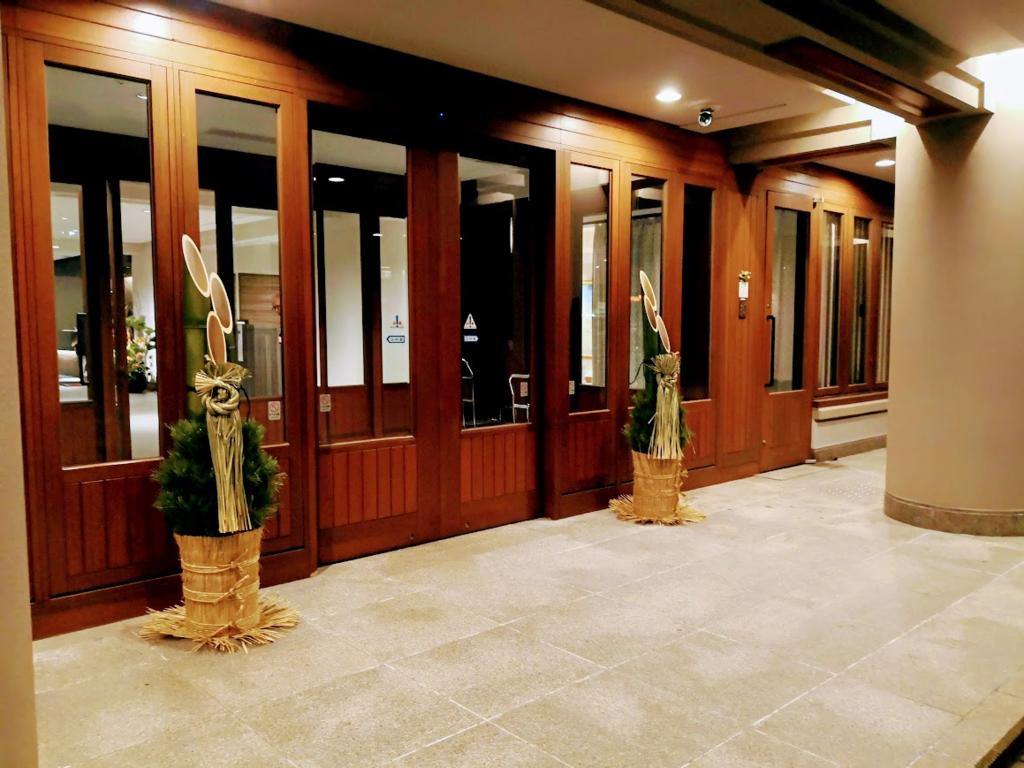 軽井沢マリオットホテルのエントランス