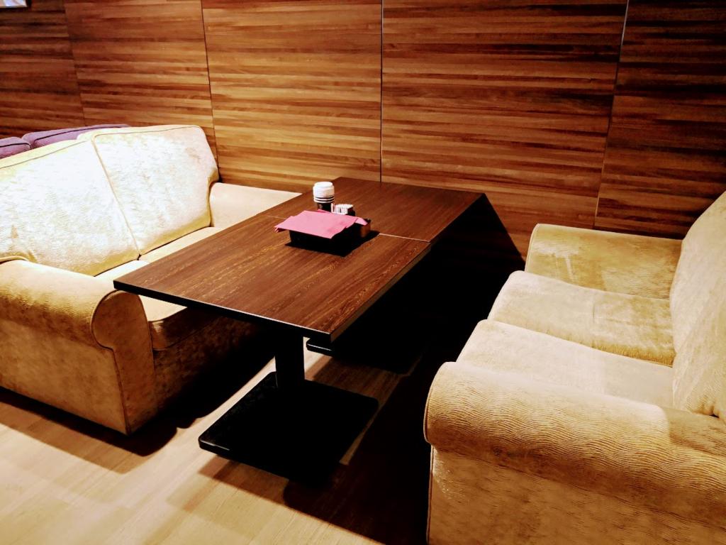 軽井沢マリオットホテルレストランのソファ