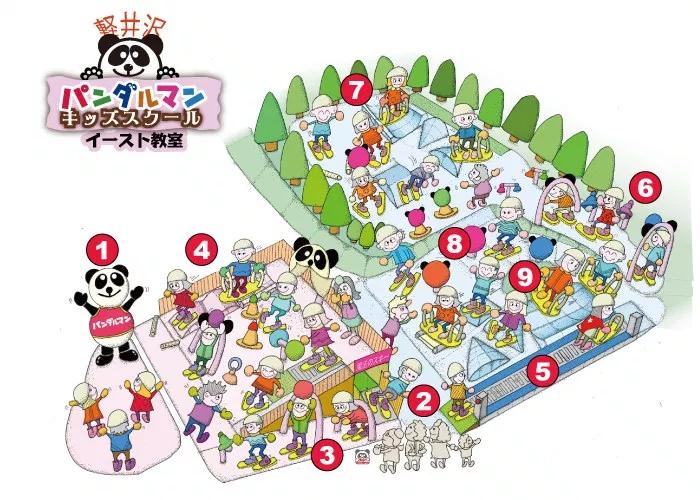 軽井沢パンダルマンキッズスクールマップ