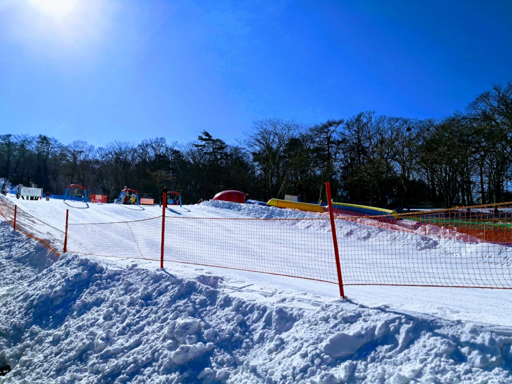 イーストスノーマンパークのソリ滑り場
