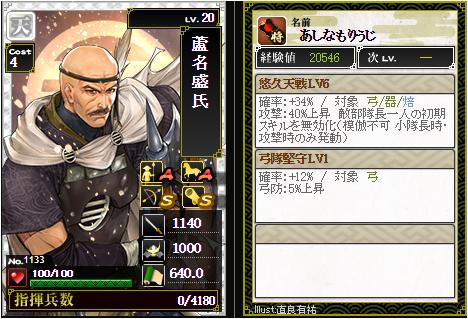 蘆名盛氏-1133:戦国ixa