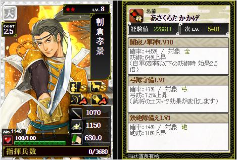 朝倉孝景-1140:戦国ixa
