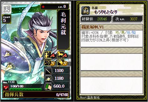 毛利元就-1130:戦国ixa