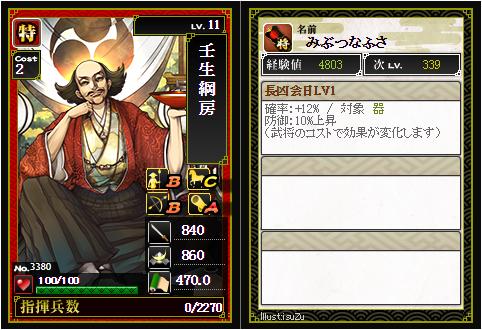 壬生綱房-3380:戦国ixa