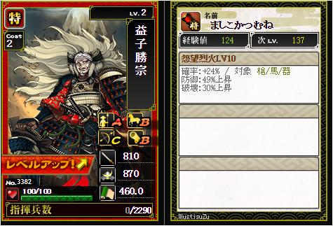 益子勝宗-3382 :戦国ixa