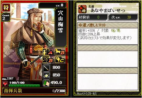 穴山梅雪-3387:戦国ixa