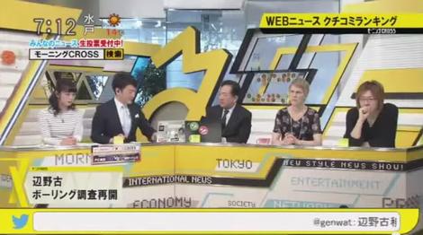 20150313 TOKYOMX 堀潤 脊山麻理子 田中康夫