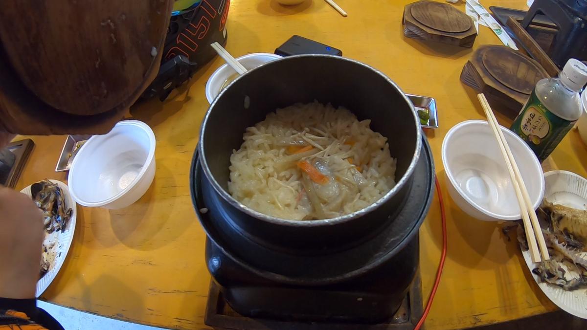 キンメの釜飯 (700円)