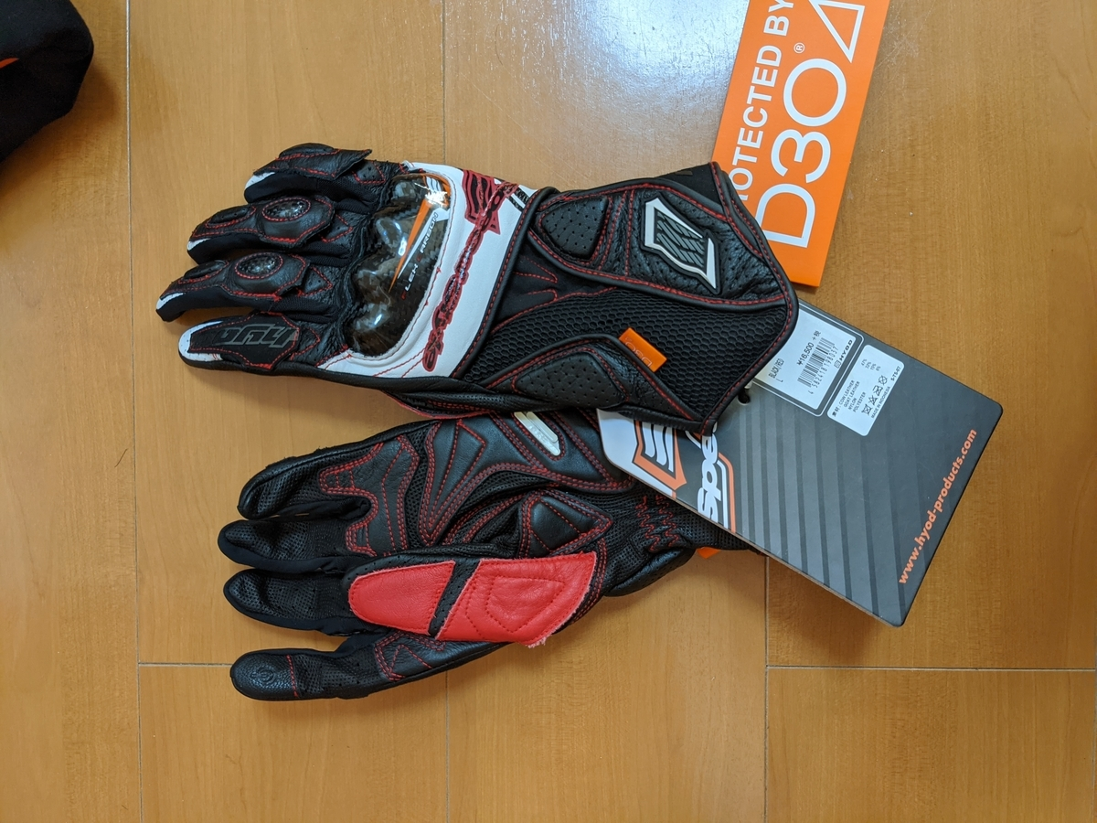 ST-X CORE D3O GLOVES (LONG) BLACK/RED ¥16,500