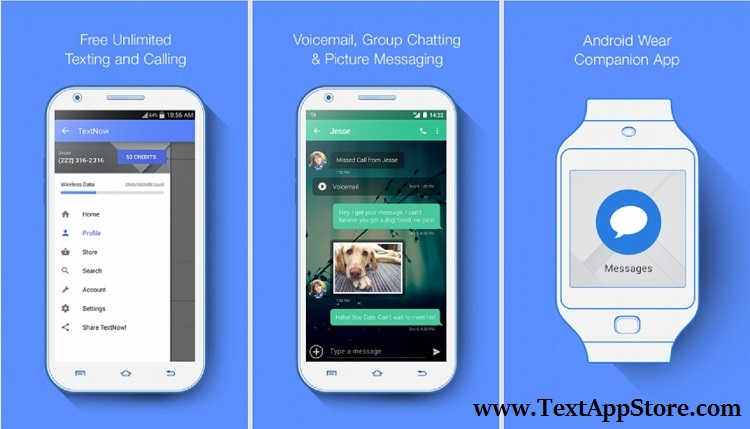 TextNow APK- textnow free text calls, TextNow messaging