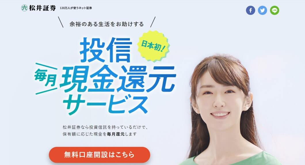 松井証券,投信毎月現金還元サービス