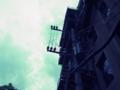 青空に電柱
