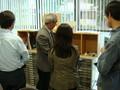 視覚障害者を支援する機器の展示