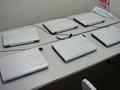 神戸アイライト協会。部屋の隅にパソコン教室の機材